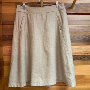 Banana Republic Lined A Line Wool Skirt